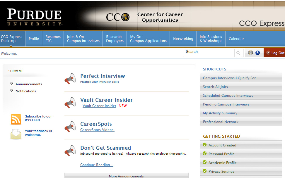 As A Student On The Career Hunt In (letu0027s Face It) A Very Tight Job Market,  I Find Myself On CCO Express Every Day, It Seems.